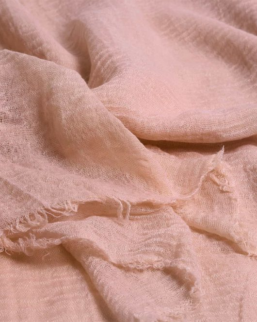 crimp hijab scarf in baby pink