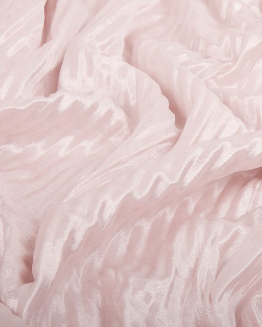 ribbed silk hijab in baby pink
