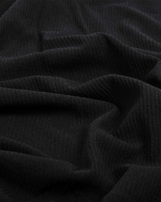 ribbed jersey hijab scarf in black