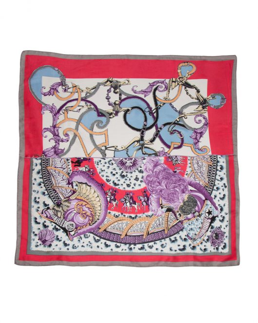 Armour Silk Scarf in Hot Pink