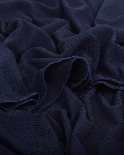 ribbed jersey hijab scarf in navy