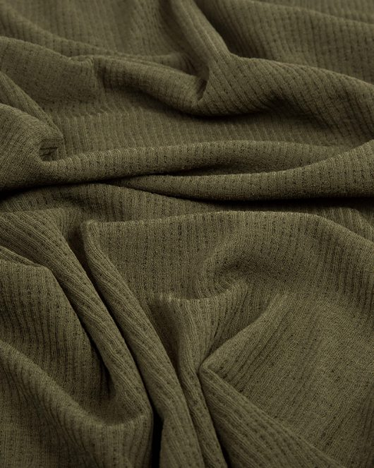 ribbed jersey hijab scarf in olive