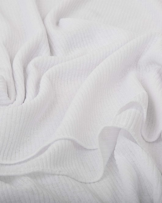 ribbed jersey hijab scarf in white